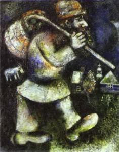Le juif errant. Marc Chagall. 1925. Musée d'art moderne de Genève.
