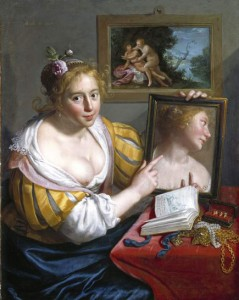 Moreelse Paulus. 1627.Fille au miroir. Musée Fritzwilliam. Cambridge