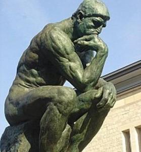 Le penseur. Auguste Rodin. 1902. Musée Rodin à Paris.