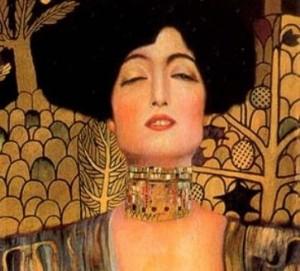 Détail de Judith et Holopherne. Klimt 1901. Galerie Belvédère. Vienne