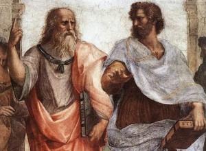 Détail de la fresque de l'école d'Athènes. Rapahël. 1509. Musée du Vatican