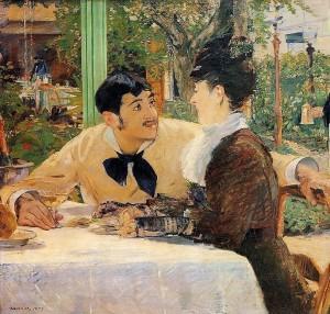 Edouard Manet. Chez le père Laluile. 1879. Musée des beaux-Arts de Tournay.