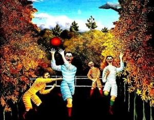 Rousseau. Les joueurs de foot-ball. 1908. Musée Guggenheim. New York