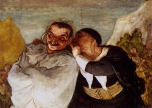 Daumier. Crispin et Scapin. 1864. Musée d'Orsay. Paris