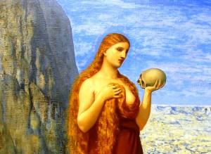 Détail de l'œuvre de Puvis de Chavannes. Marie Madeleine au désert de la Beaume. 1869. Städel Muséum. francfort.