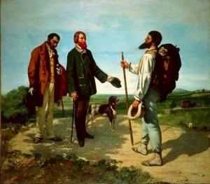 Bonjour Monsieur Courbet. Gustave Courbet. 1854. Musée Fabre, Montpellier
