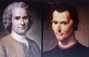 Jean-Jacques Rousseau et Nicolas Machiavel
