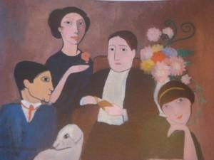 Marie Laurençin. Apollinaire et ses amis. 1908. Musée de Baltimore.