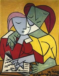 Deux filles lisant Picasso. 1934