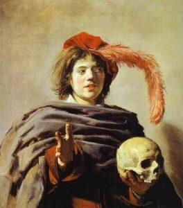 Jeune homme tenant un crâne; Vanité. Hall Franz. 1626. National Galery Londre
